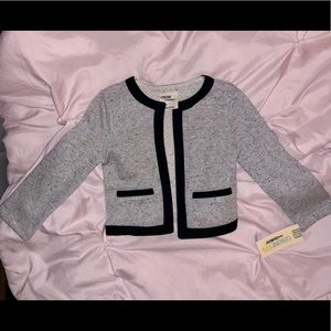 Toddler Girl Heather Grey Cardigan